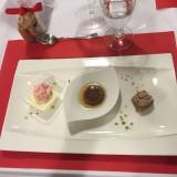 Panacotta espuma fraise aux piments d'espelette