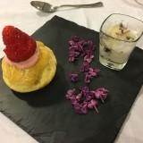 chou et sa rose de fraise granité de lilas
